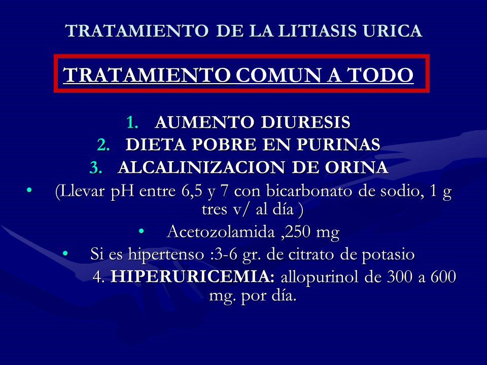 TRATAMIENTO DE LA LITIASIS URICA