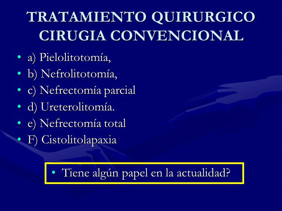 TRATAMIENTO QUIRURGICO CIRUGIA CONVENCIONAL
