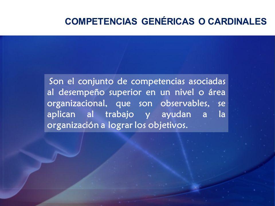 COMPETENCIAS GENÉRICAS O CARDINALES