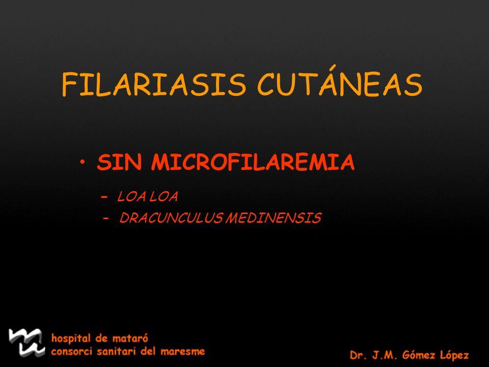 FILARIASIS CUTÁNEAS SIN MICROFILAREMIA - LOA LOA
