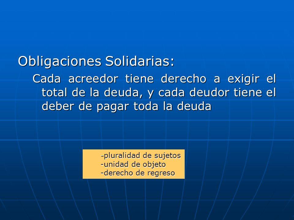 Obligaciones Solidarias: