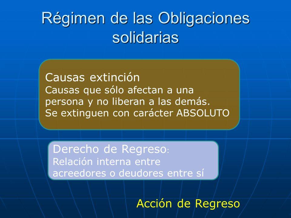 Régimen de las Obligaciones solidarias