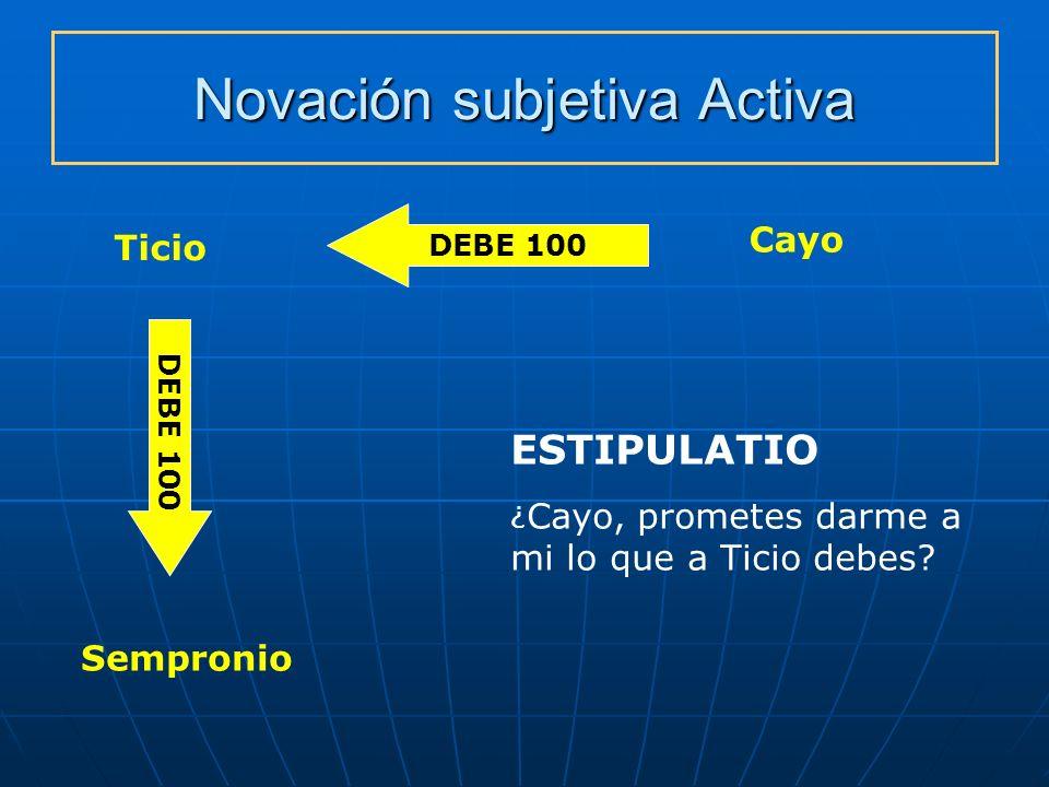 Novación subjetiva Activa