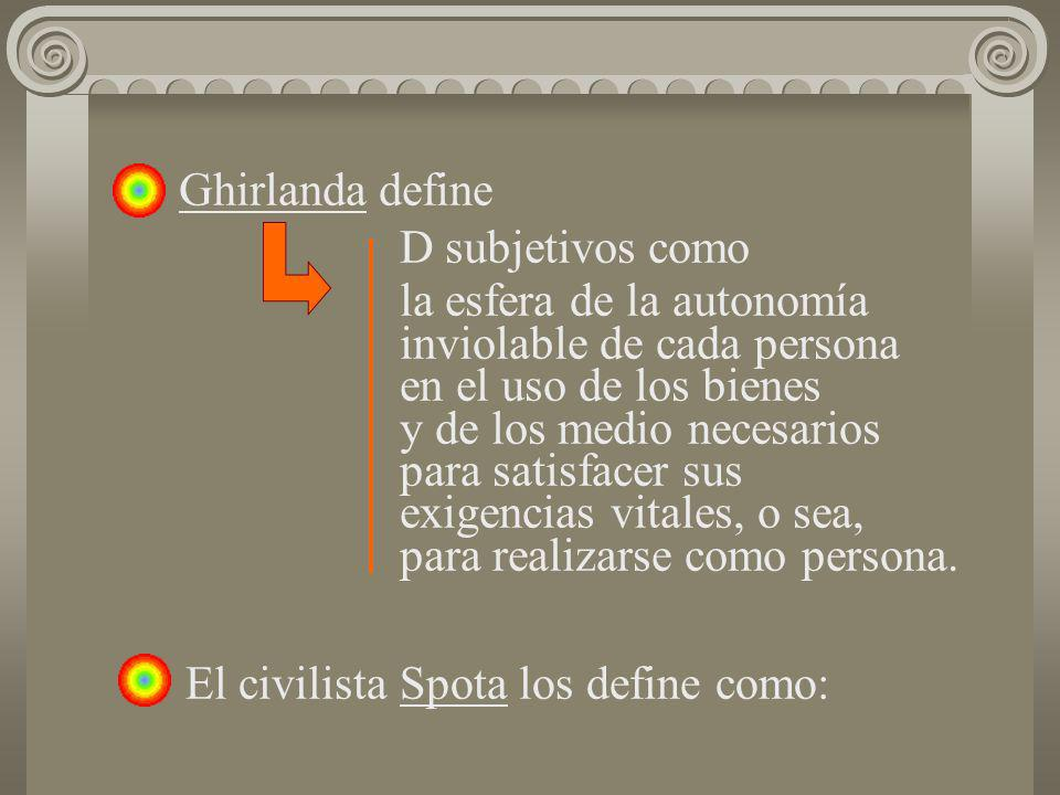 Ghirlanda define D subjetivos como