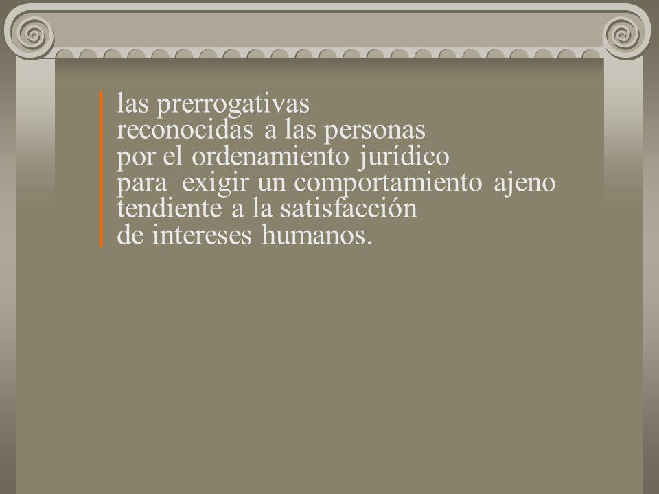 las prerrogativas. reconocidas a las personas