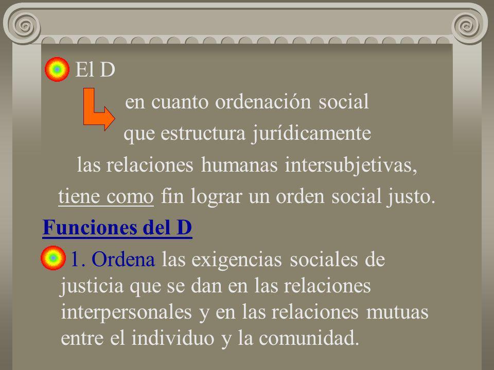 en cuanto ordenación social que estructura jurídicamente