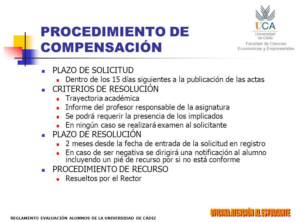 PROCEDIMIENTO DE COMPENSACIÓN