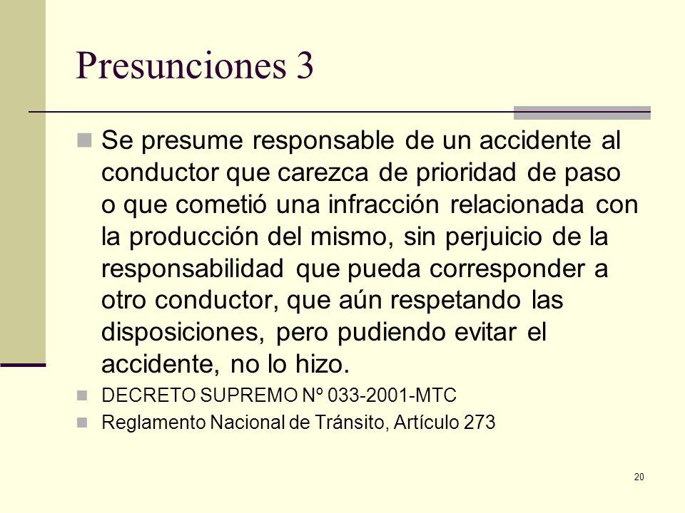Presunciones 3