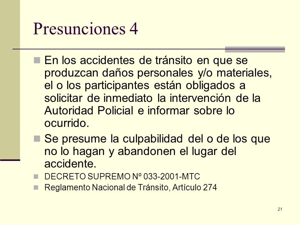 Presunciones 4
