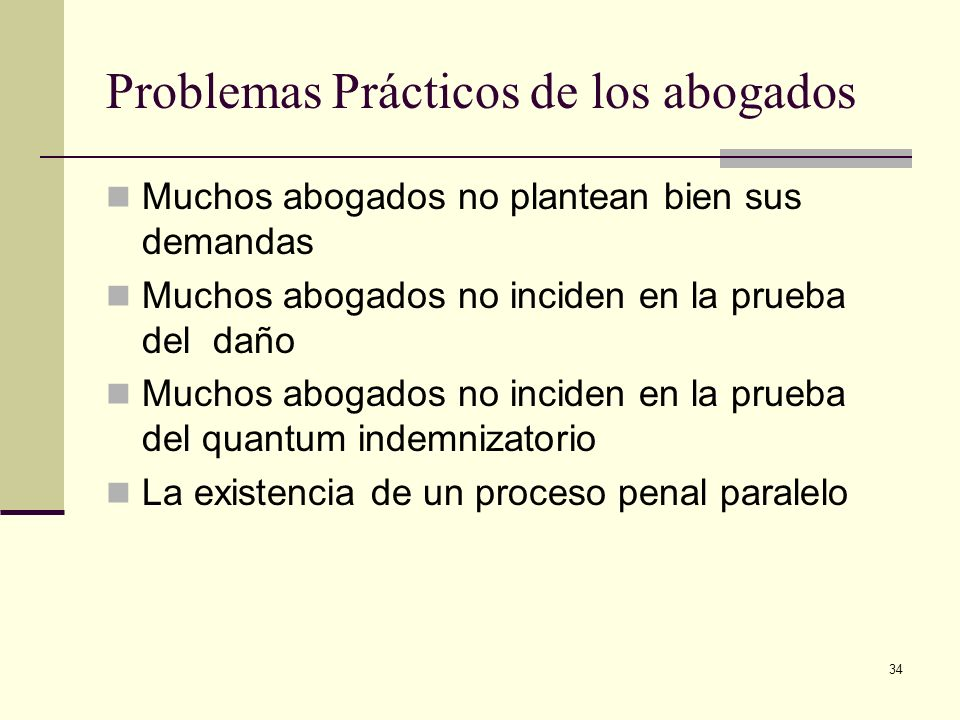 Problemas Prácticos de los abogados