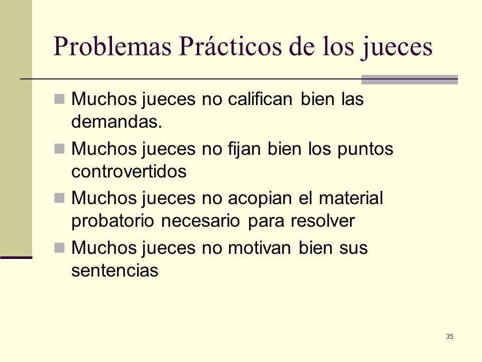 Problemas Prácticos de los jueces