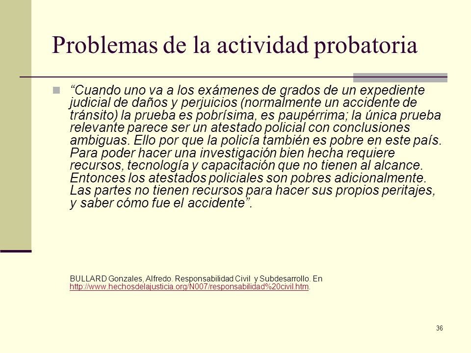 Problemas de la actividad probatoria