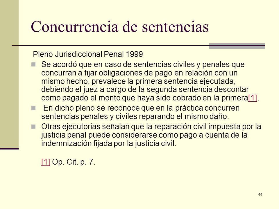 Concurrencia de sentencias