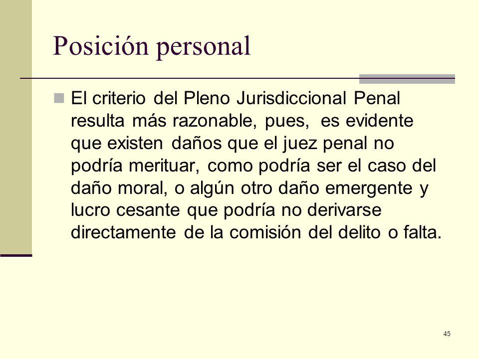 Posición personal