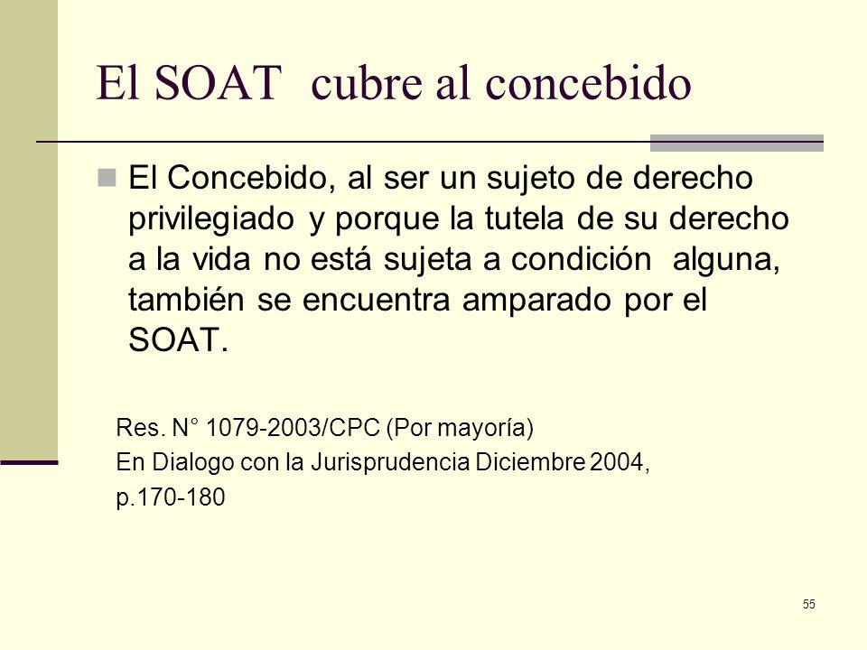 El SOAT cubre al concebido