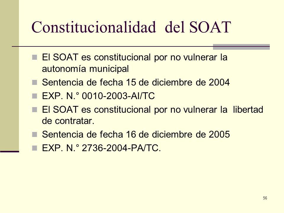 Constitucionalidad del SOAT