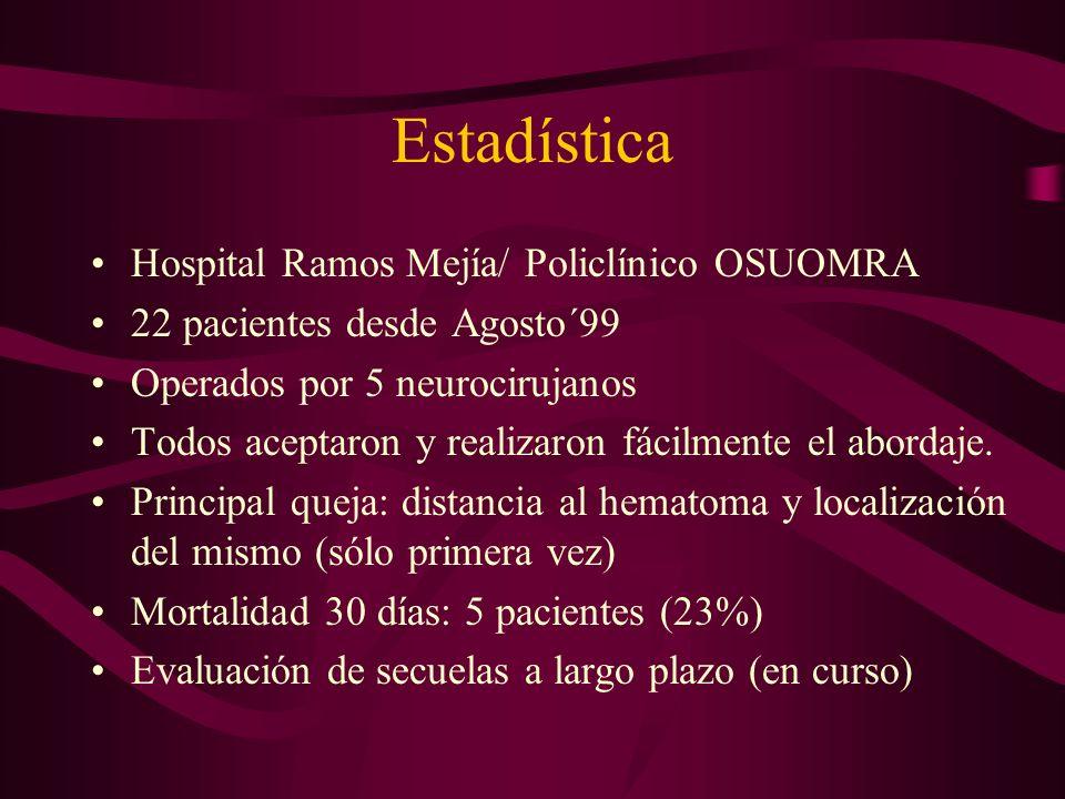 Estadística Hospital Ramos Mejía/ Policlínico OSUOMRA