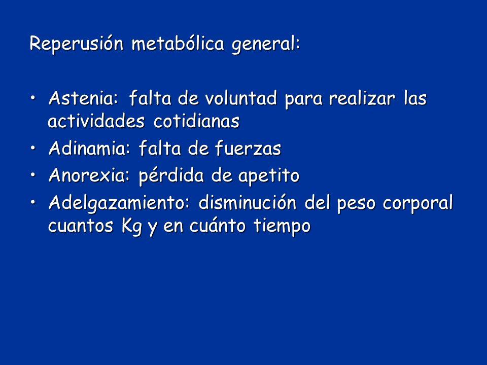 Reperusión metabólica general: