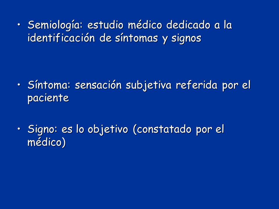 Síntoma: sensación subjetiva referida por el paciente