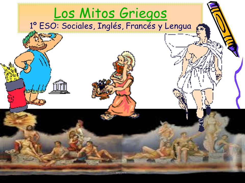 Los Mitos Griegos 1º ESO: Sociales, Inglés, Francés y Lengua