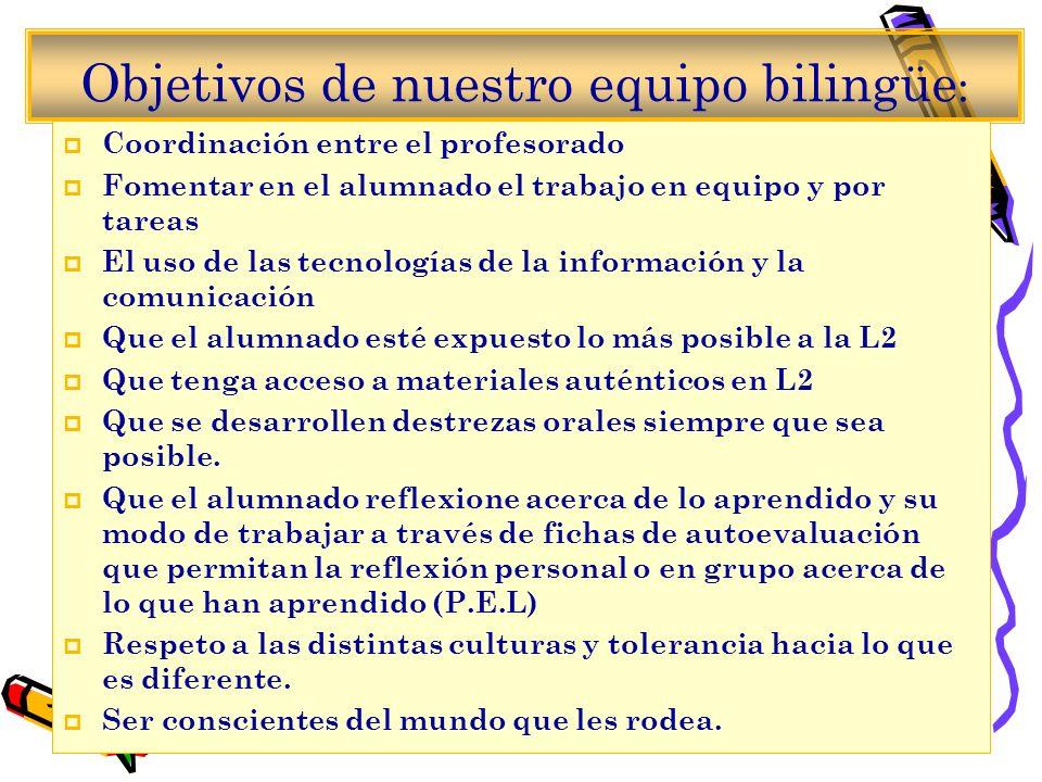 Objetivos de nuestro equipo bilingüe: