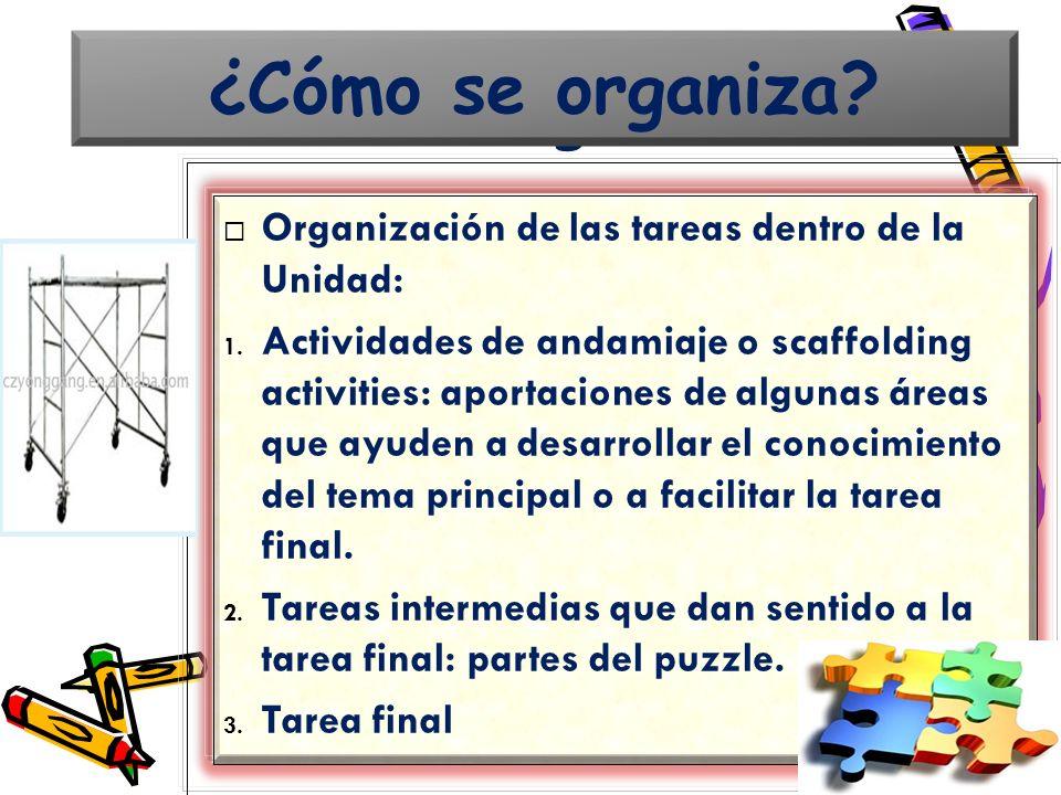 ¿Cómo se organiza ¿Cómo se organiza