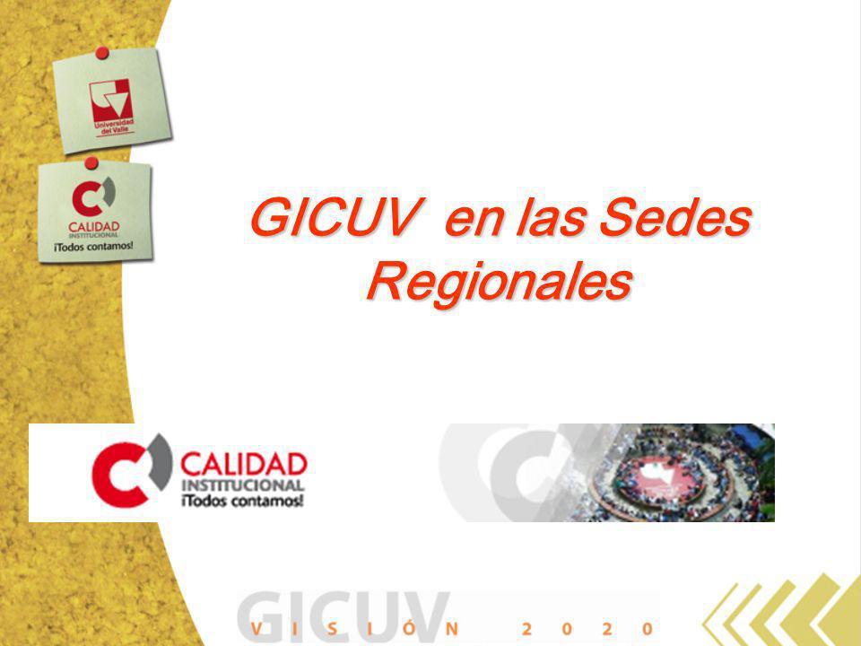 GICUV en las Sedes Regionales