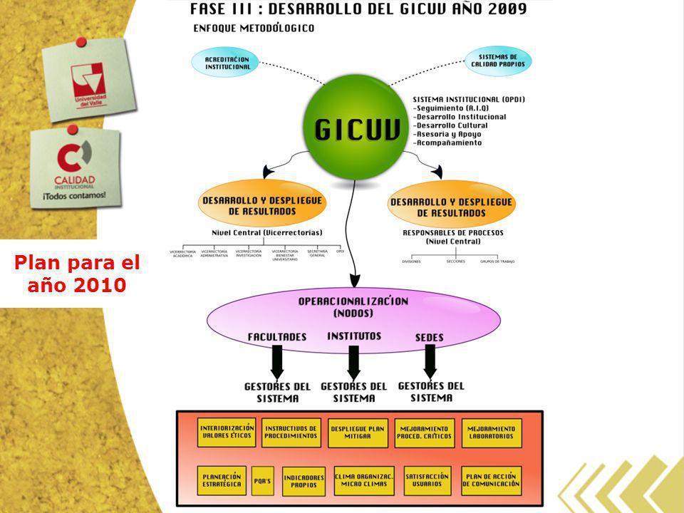 Plan para el año 2010