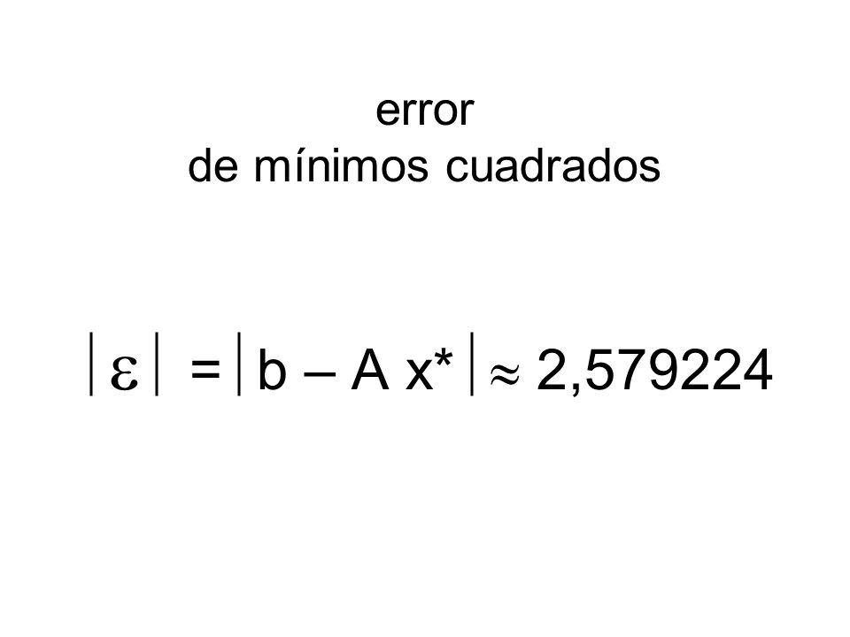 error de mínimos cuadrados