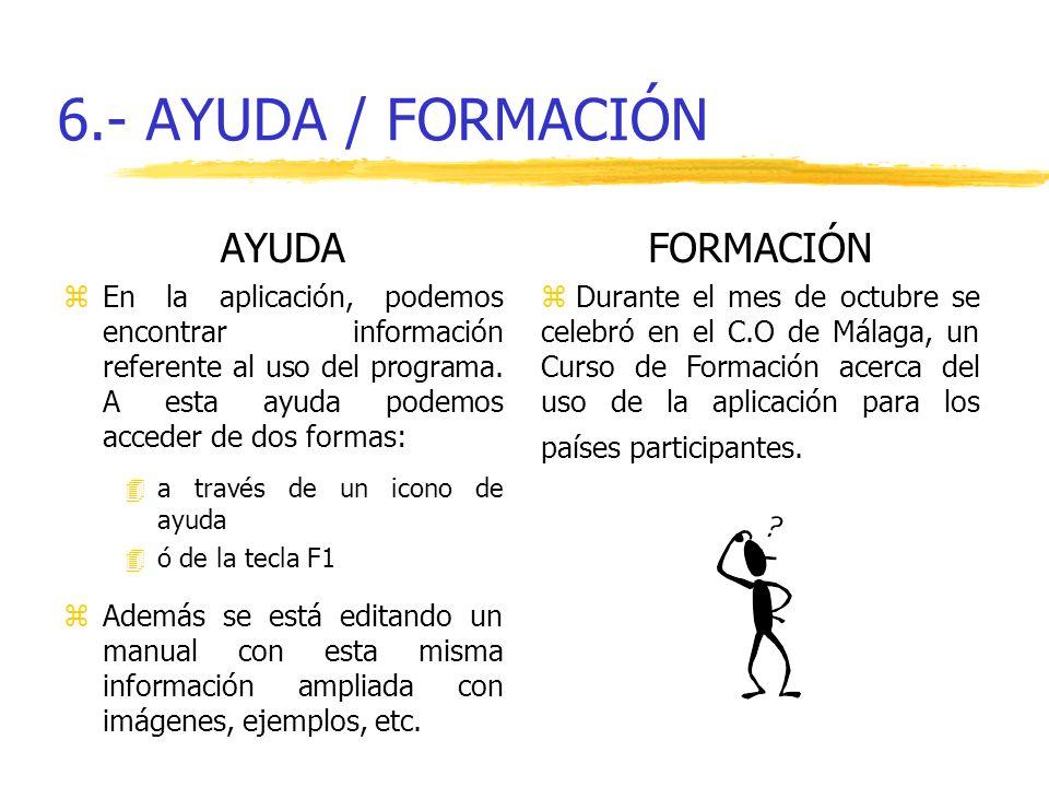 6.- AYUDA / FORMACIÓN AYUDA FORMACIÓN
