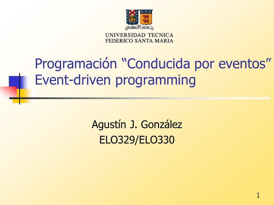 Programación Conducida por eventos Event-driven programming
