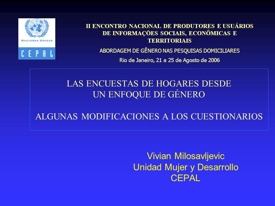 Vivian Milosavljevic Unidad Mujer y Desarrollo CEPAL