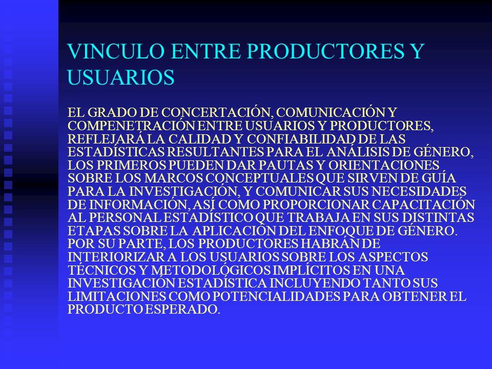 VINCULO ENTRE PRODUCTORES Y USUARIOS