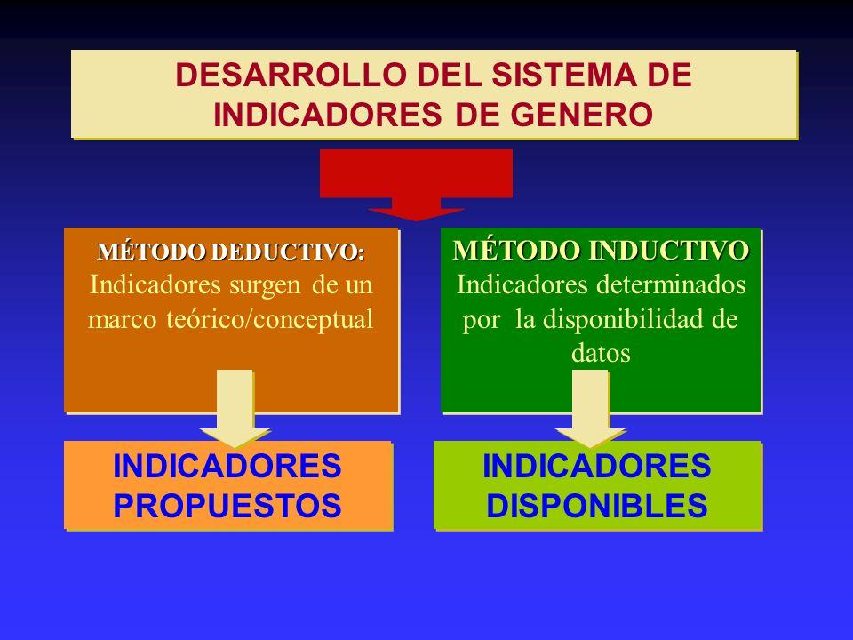DESARROLLO DEL SISTEMA DE INDICADORES DE GENERO