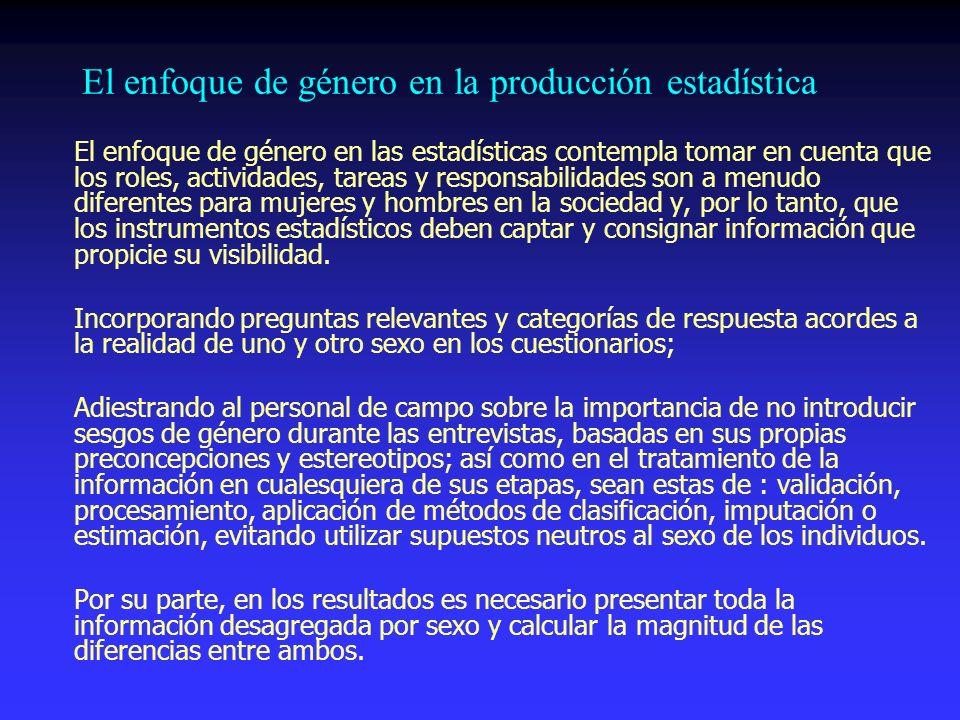 El enfoque de género en la producción estadística
