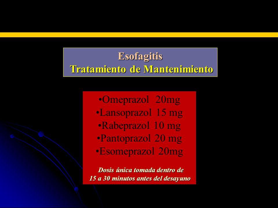 Tratamiento de Mantenimiento 15 a 30 minutos antes del desayuno