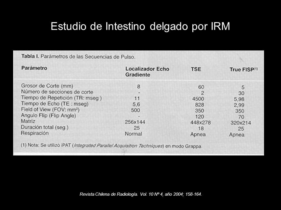 Estudio de Intestino delgado por IRM