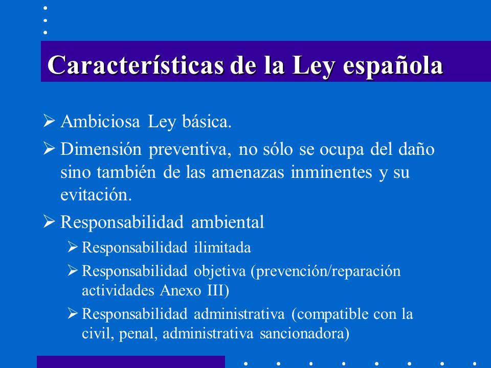 Características de la Ley española
