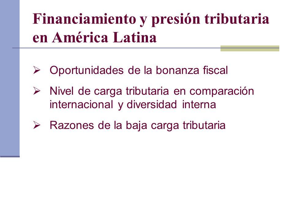 Financiamiento y presión tributaria en América Latina