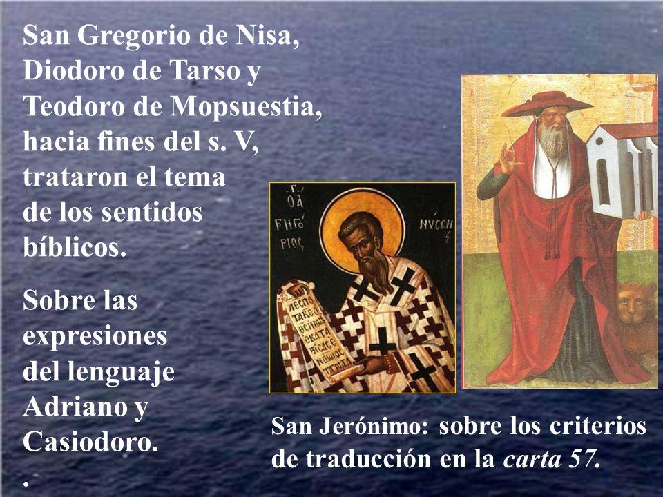 Sobre las expresiones del lenguaje Adriano y Casiodoro. .