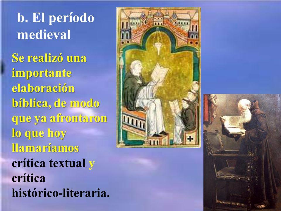b. El período medieval