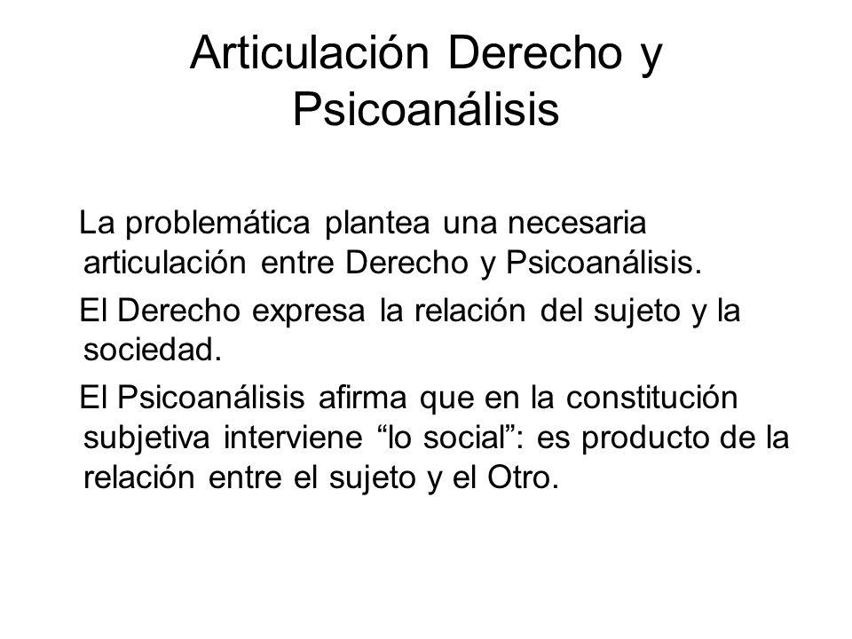 Articulación Derecho y Psicoanálisis