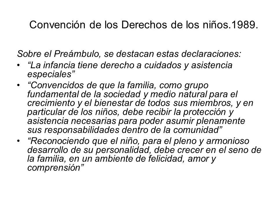 Convención de los Derechos de los niños.1989.