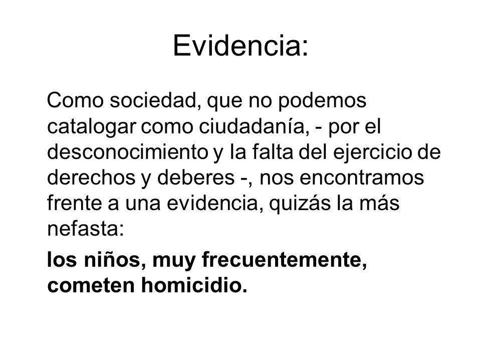 Evidencia: