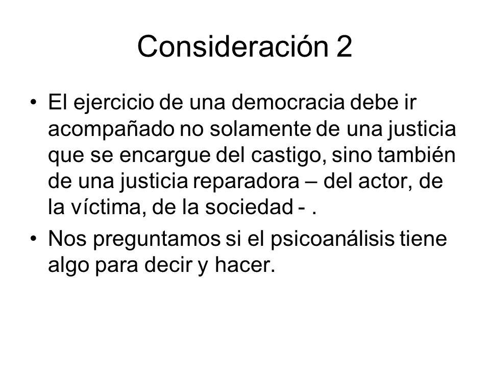Consideración 2