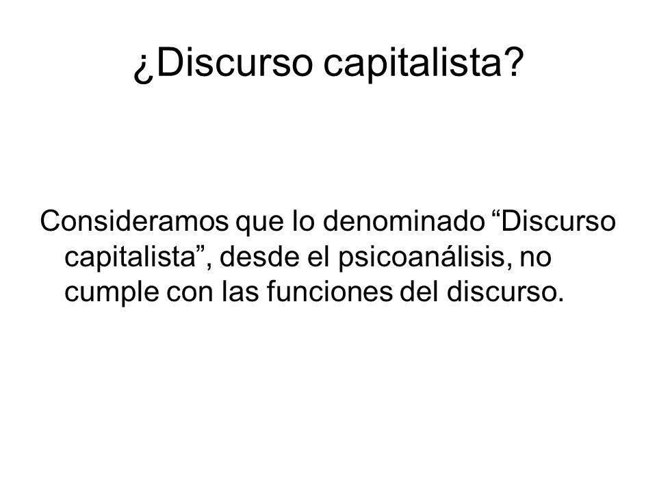 ¿Discurso capitalista