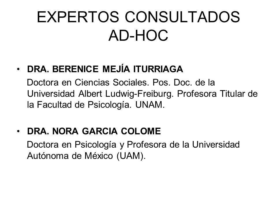 EXPERTOS CONSULTADOS AD-HOC