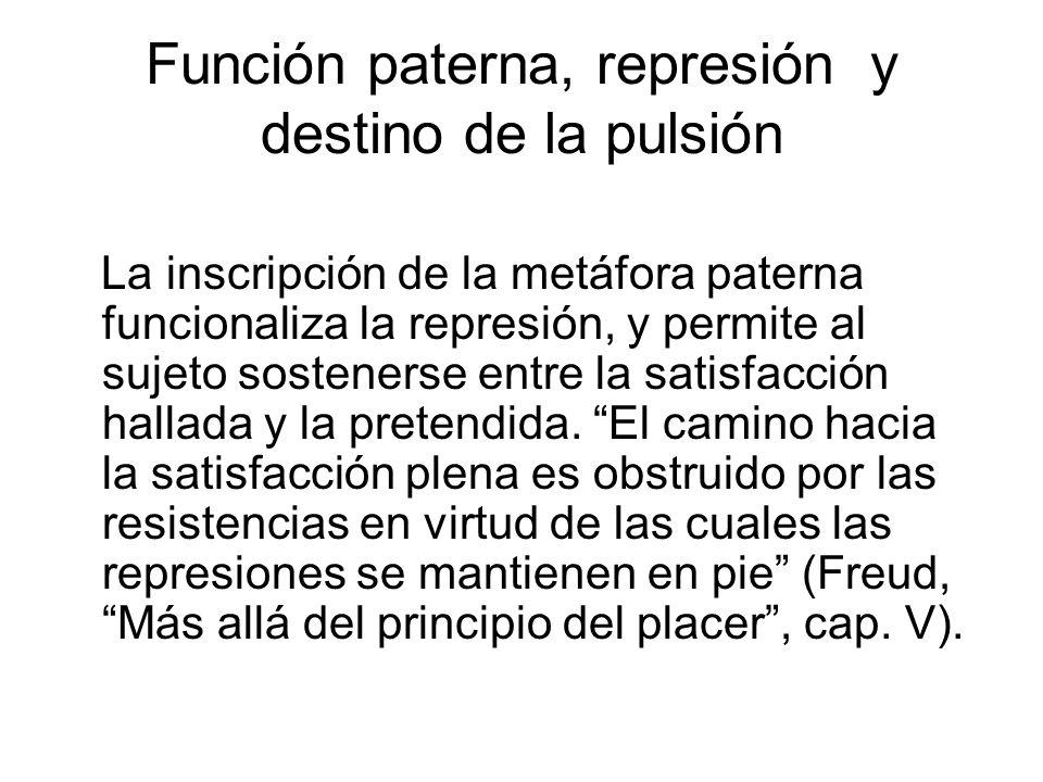 Función paterna, represión y destino de la pulsión