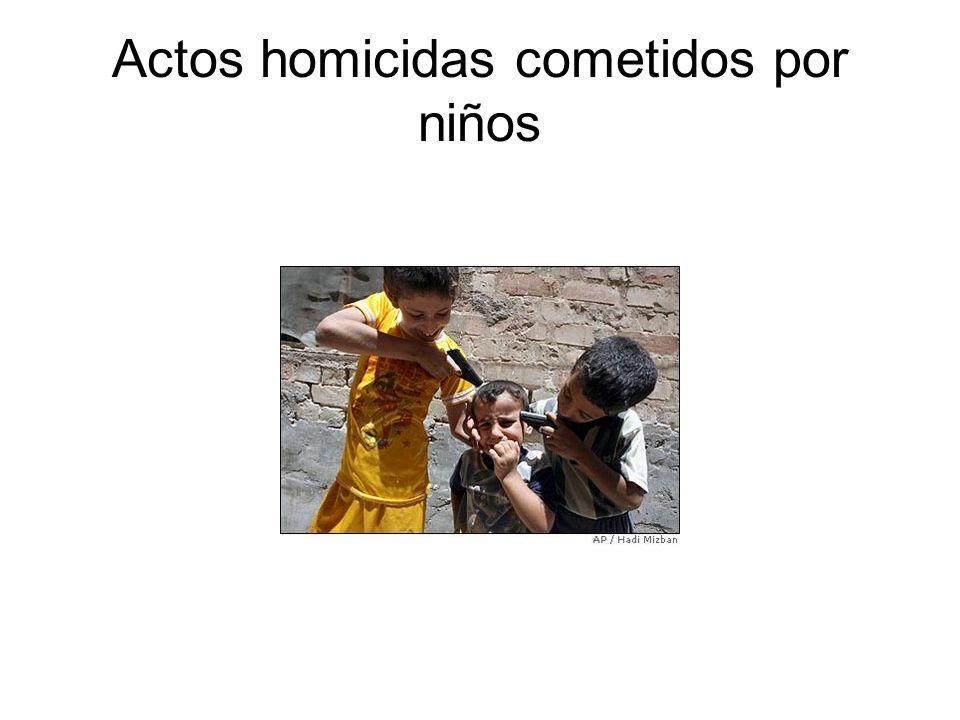 Actos homicidas cometidos por niños