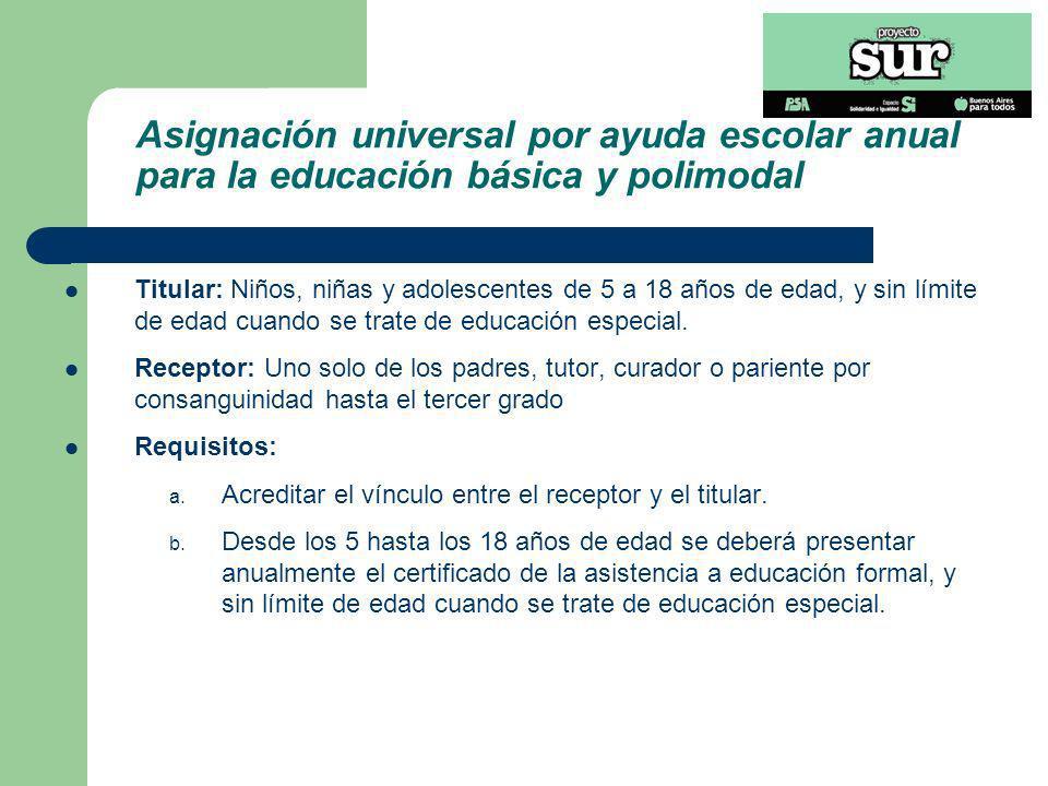 Asignación universal por ayuda escolar anual para la educación básica y polimodal